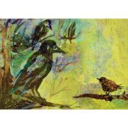 Die Krähen - Postkarte